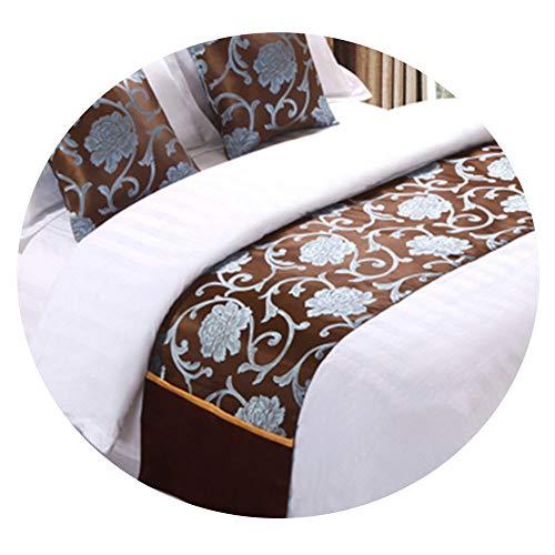 TQBT Bettläufer Bettläufer Betttuch Betttuch Bettdecke Matratze Handtuch Sterne Hotel europäisch Stil, Leinen, 50x240cm