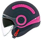 Nexx SX.10 Switx Jet Helm M (57/58) Schwarz/Pink