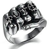 Best Epinki Friend Rings For 2 Crowns - Stainless Steel Ring for Men, Skull Ring Gothic Review