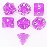 Y-HUA 7pcs / Set dices di Dadi Poliedrico per Dungeons & Dragons Giochi da tavolo 40