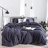 Kexinfan Bettbezug Washed Baumwolle Vierteilig Baumwolle Karierten Bett Wind Bett Einfache Baumwolle Bettwäsche, Bettwäsche, Sandosky, 1,5 M (5 Fuß) Bett
