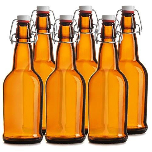 n 6–16oz Einfache Gap Bier Flaschen–Bernstein (Swing-top-glas-flaschen)