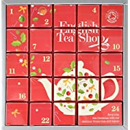 English Tea Shop Organic Pink Advent Calendar (Pack of 24 Pyramid Tea Bags)