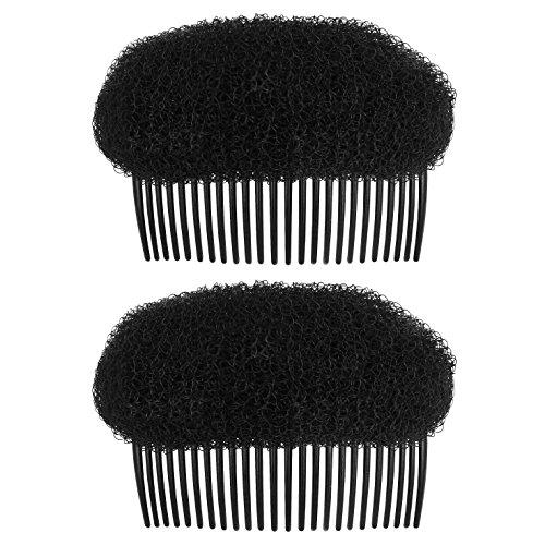 OMyGod Style de cheveux Ruche Bump en mousse Shaper Peigne – Noir – 9 cm x 6 cm x 5.5 cm