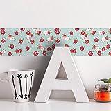 Frolahouse Rose selbstklebende Tapete Border Roll wasserdichte Sockelleiste einfach installieren Wandkunst für Waschtisch Küche Schlafzimmer Studie Glastür Flur Eingang Hintergrund Dekoration 10x200cm