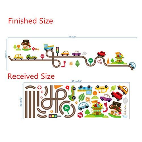 Cartone animato car bus highway track adesivi murali per camerette camerette per bambini soggiorno decorazioni per parete art decalcomanie boy's gift, 0083