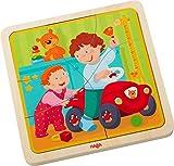 Holzpuzzle Mein Leben   Niedliches Kinderpuzzle und Motorikspielzeug ab 3 Jahren   Kleinkindspielzeug mit 4 hübschen Puzzlemotiven