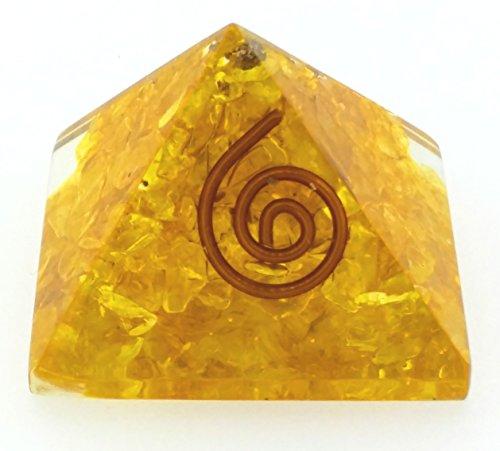 Preisvergleich Produktbild Reiki Energy Charged Natural Gemstone Citrine Healing Crystal Chip Orgone Pyramid by Holy Chakra