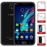 "Moviles Libres Baratos 10Pcs v·mobile J5 Telefono Android 7.0 Dual SIM 4G 5.5"" 8GB Batería 2800mAh Cámara 5 MP Quad Core WIFI GPS Bluetooth Smartphone(Oro Blanco Negro opcional)(Negro)"