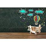 Cassisy 2,2x1,5m Vinyle Anniversaire Toile de Fond Photo Graffiti Tableau texturé Avion en Bois Jouet Fond De Studio Photo Enfant Adulte Portrait Photographie Prop Photobooth