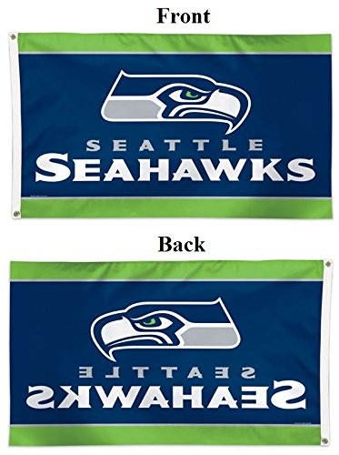 WinCraft Seattle Seahawks Deluxe American Football NFL Hissfahne 150 x 90 cm