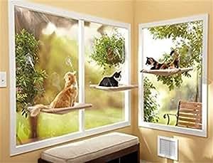 Hangqiao Hamac de fenêtre pour chat avec fixation ventouse