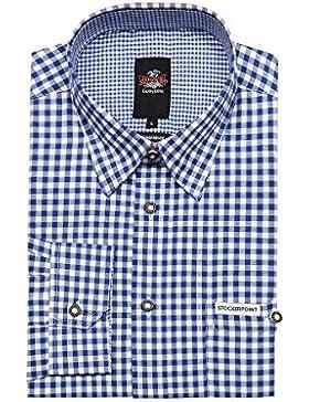 Stockerpoint Herren Trachtenhemd langarm blau Carlos 112560