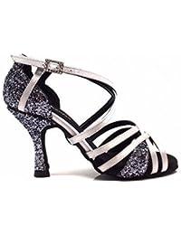 TMKOO& Zapatos de las mujeres adultas de baile latino zapatos de salón de baile latino zapatos de baile de las nuevas mujeres para las mujeres ( Color : Negro , tamaño : 35 )