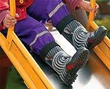 DEMAR - Kinder Gummistiefel mit Socken / Regenstiefel / Gartenschuhe - TWISTER LUX PRINT (Zebra, 20/21)