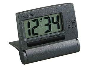 Vedette - 558.8072.08 - Réveil de Voyage - Quartz Digitale - Sonnerie Progréssive - Eclairage - Alarme Répétition - Mode 12-24H - Double Fuseau Horaire