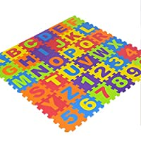36 Pcs Soft Eva Foam Safe Play Mat Learning Alphabet Number Jigsaw Puzzle for Baby Children Kids UK by Trimming Shop
