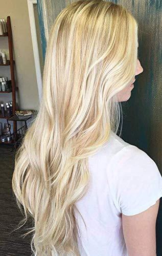 Easyouth Weft Haarverlängerung Zum Einnähen Weave 18 Zoll 100g Farbe 14 Gold Blonde Hervorgehoben Mit Farbe 24 Blonde Bündel Jungfrau Echthaar Brasilianisch Human Haar Straight Full Head