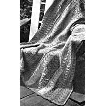 KNITTED PATIO STRIPE AFGHAN - A Vintage 1947 Knitting Pattern (knit,blanket,throw)...Kindle eBook Download
