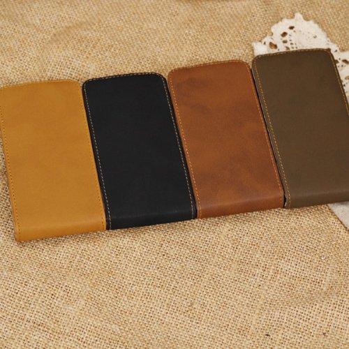 Retro Case Porte-cartes en cuir Wallet Style Pour iPhone 5C jaune