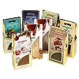 Weihnachtstee Teegeschenk mit 6 verschiedenen Wintertees und Kandissticks