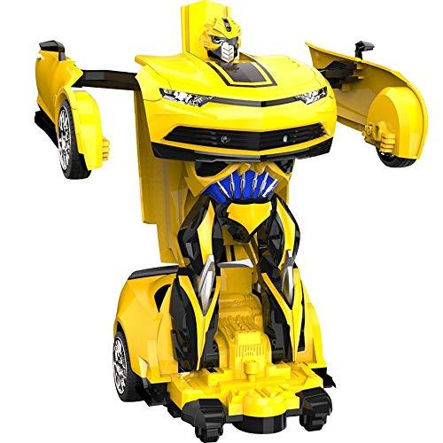 rformung Fernbedienung Auto for Kinder mit Arbeitsscheinwerfer Spielzeug Transformator Roboter 1: 12 RC Dual Modi 360 ° Rotation Stunt Cars Elektrofahrzeug Jungen Mädchen Kinder Ge ()