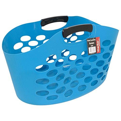 marko-homewares-plastic-laundry-basket-storage-socks-bag-flexible-flexi-fruit-garden-5-colours-blue