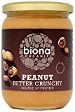 Biona Peanut Butter Organic Crunchy with Sea Salt 500 g