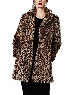 Chaqueta de piel sintética de manga larga para mujeres, ideal para el invierno