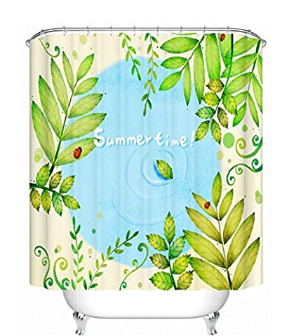 KKLL Green Polyester Thickened Waterproof Semi shade Partition curtains Bath Shower Shade for Bath , 180*180cm