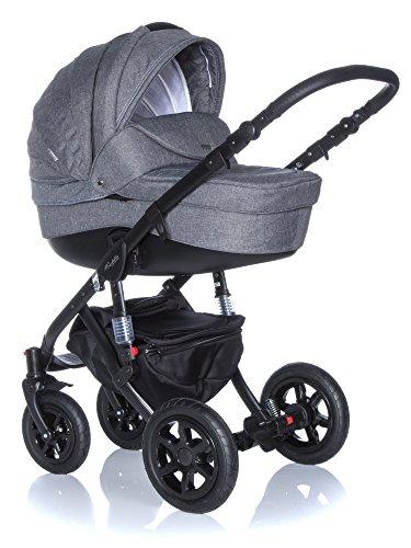 Kombi Kinderwagen Travel System Adamex Barletta 20Lc 3in1 Buggy Sportwagen Babyschale Autositz 0-10kg + Zubehör