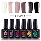 Coscelia UV Nagellack Set 6pc Gellack Farbenset UV...