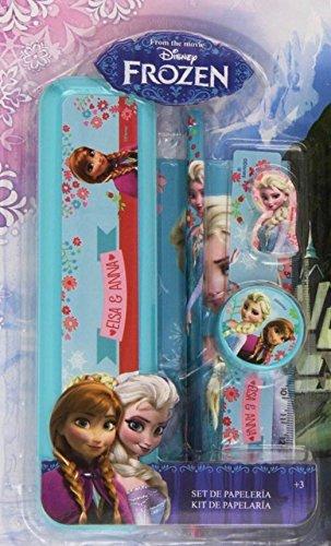 Eiskönigin Schreibsett mit Lineal, Bleistift, Spitzer, Radiergummi und Kunststoff Mäppchen