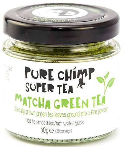 Matcha-Tee - Matcha Grüntee-Pulver (50 g) - Zeremonie-Qualität - zum kalt oder heiß genießen - Japan - PureChimp