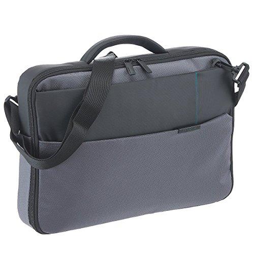 "Samsonite Qibyte Laptop Bag 15.6"" Bolso Bandolera, 9.5 litros, Color Antracita"