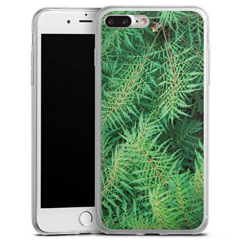 Apple iPhone X Slim Case Silikon Hülle Schutzhülle Farn dschungel Wald Silikon Slim Case transparent