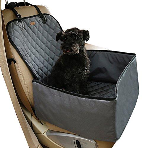 Yiiquan Hunde Faltbarer Haustier Katze Auto Erhöhung Sitz Träger Reise-Bett Autositz Träger Grau 45*45*58 CM (Pet-träger Klein)