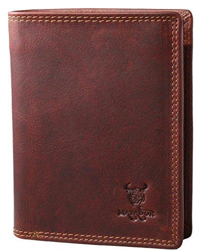 MATADOR ECHT LEDER Geldbörse / Geldbeutel Herren Portemonnaie weichem Rindsleder 8 Kartenfächern (Herren Geldbörse Aus Leder Marke)