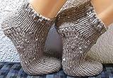 SOFORT LIEFERBAR !!! SUPERDICKE Handgestrickte Haussocken Damensocken selbstgestrickte Socken Sofasocken gestrickte Bettschuhe Bettsocken