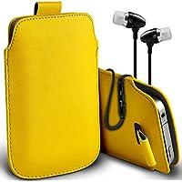 Fone-Case (Giallo) Alcatel Fierce 4 alta qualità in pelle PU