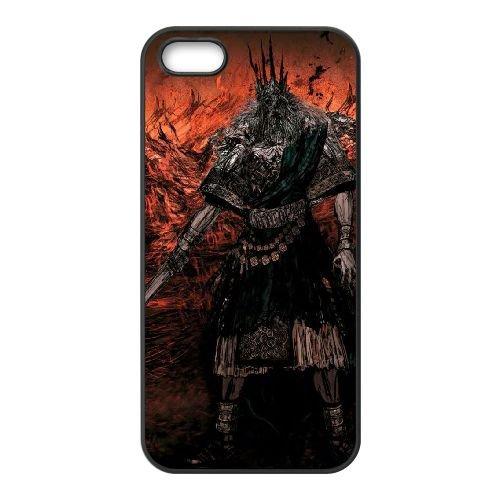 Dark Souls coque iPhone 5 5S Housse téléphone Noir de couverture de cas coque EBDXJKNBO15762