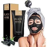 Blackhead Maske, ELFINA Mitesserentferner Black Mask Reiniger Gesichtsmaske für Akne, Komedo, Poren / Bambus Holzkohle / 50ml