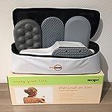 Großflächenmassagegerät Vibramat de Luxe mit 3 Massageaufsätzen von Dr. Kern, Maspo, Eos – Massagegerät mit 2 Jahren Garantie + 12 Monate Garantieverlängerung auf 3 Jahre - 2