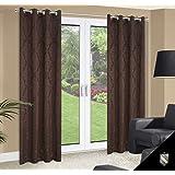 140x245 cm braun schoko schokolade elegant Vorhang Vorhänge Fensterdekoration Gardine Ösenschal brown choco chocolate 55