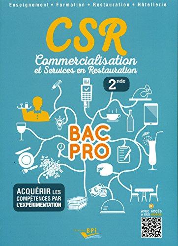 CSR BAC PRO - Seconde Elève