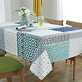 Wjsw Einfache geometrische Bedruckte Tischdecke, rechteckig, antifouling-Esstischdecke (Verschiedene Größen, geeignet für Esstisch, Couchtisch, Wildservietten etc, 140 * 180cm