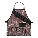 Lixada Outdoor Camping Grilling Apron BBQ Accessory Cooking Aparrel Apron Holds Beverage Oven Mitt Tongs Camouflage Barbecue Party Accessory