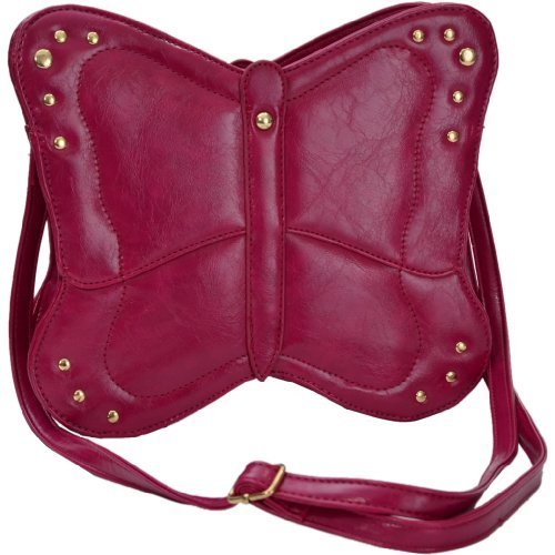 Eye Catch Sac a bandoulière en forme papillon en simili cuir - Femme