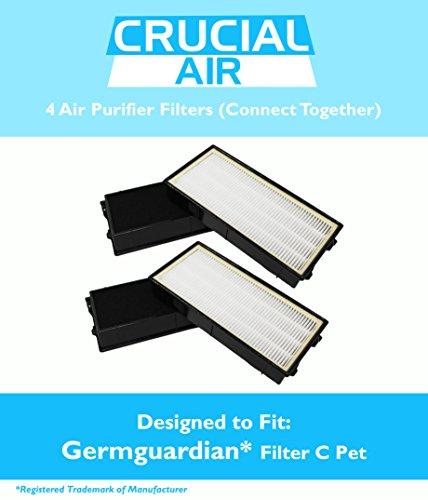 Ersatz germguardian/Keim Guardian Filter C Pet passt-in Air Reinigung Systeme–5000Modell Serie, vergleichen zu Teil # flt5250pt, inkl. 4Filter, die Passform zusammen in Luftreiniger, entworfen und hergestellt von Crucial Air