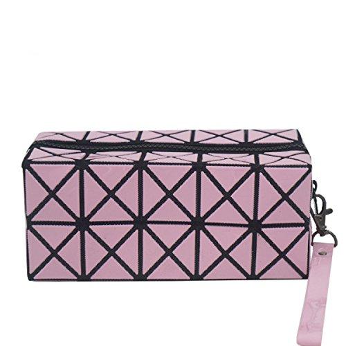 Lavare La Collezione Di Sacchetti Cosmetici Da Viaggio Multiuso Mano In Possesso Di Un Sacchetto Cosmetico Professionale Pink